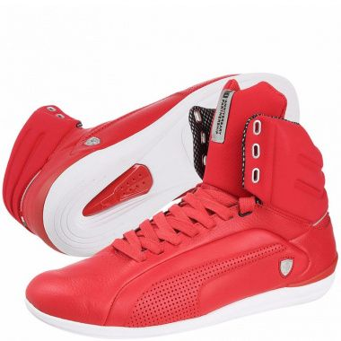 Puma Gigante Leather Ferrari red