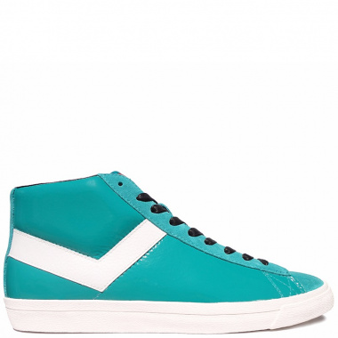 Pony Topstar Leather Hi turquoise